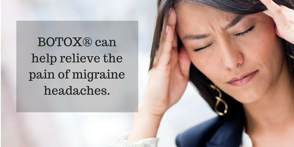 Botox can be used to relieve the chronic headache pain.