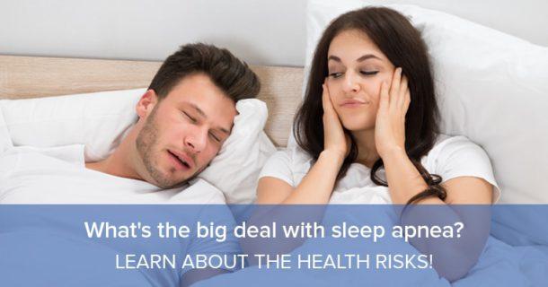 A couple's sleep is disturbed by sleep apnea